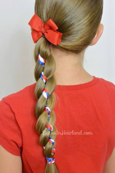 Ribbon Braid in a 4 Strand Braid from BabesInHairland.com