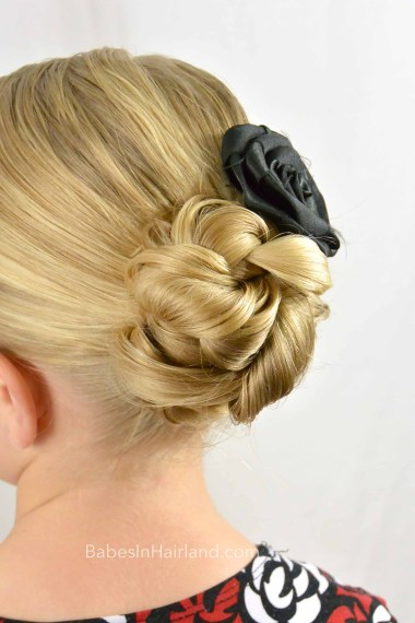 Braided Bun for Shorter Hair from BabesInHairland.com #bun #braids #shorthair #easyhairstyle