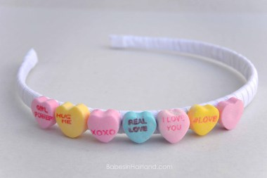 Candy Heart Headband from BabesInHairland.com #valentinesday #candy #accessories #headband #hearts