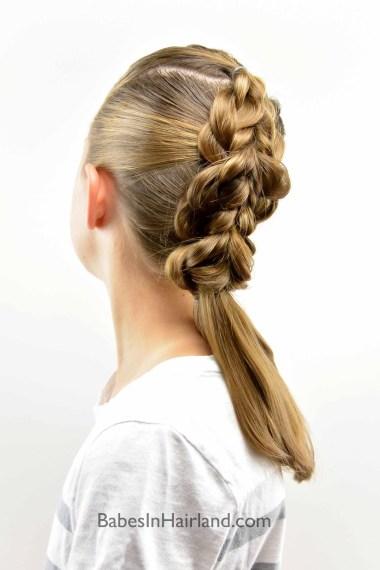 Braided Pull-Through Faux-Hawk #hair #fauxhawk #pullthrough #hairstyle