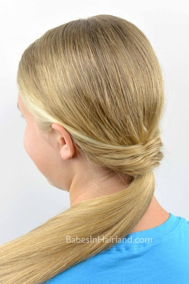 Fishtail Topped Ponytail from BabesInHairland.com #ponytail #fishtail #fishbone #hairstyle