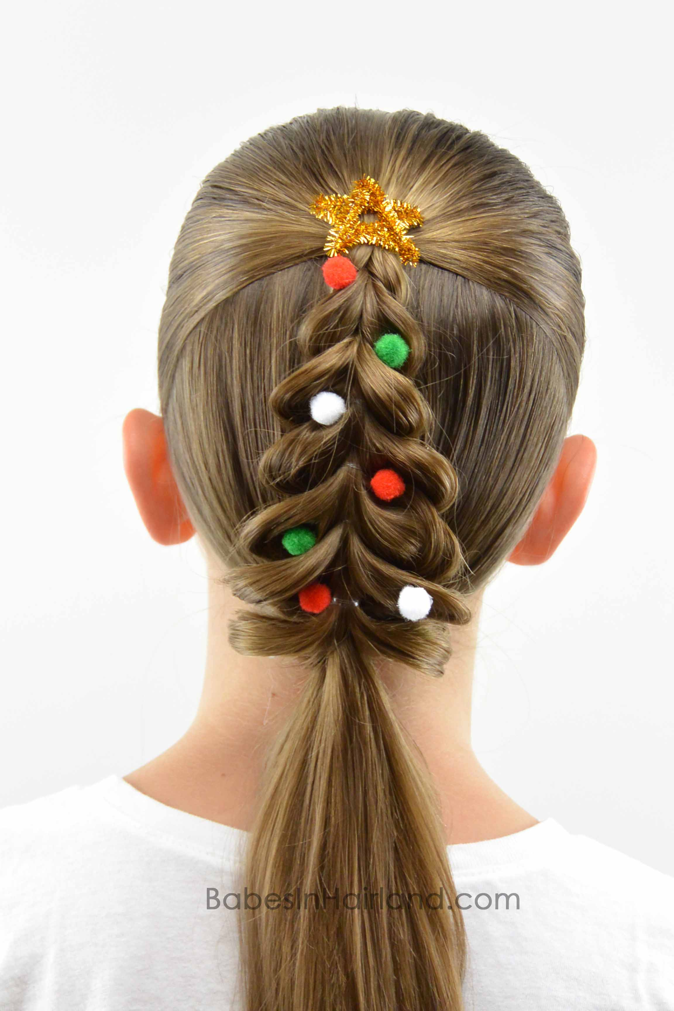christmas tree pull- braid