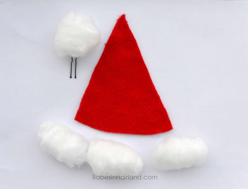 Santa Hat Hairstyle Decorations from BabesInHairland.com #santa #Christmas #hairstyle