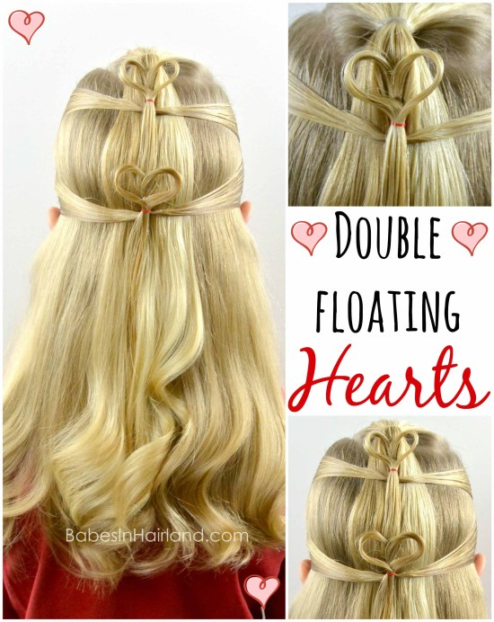 Double Floating Hearts | Valentine's Day Hairstyle from BabesInHairland.com #valentinesday #heart #hair #hairstyle