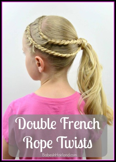 Double French Rope Twists from BabesInHairland.com #twists #ropebraid #ponytail #hairstyle