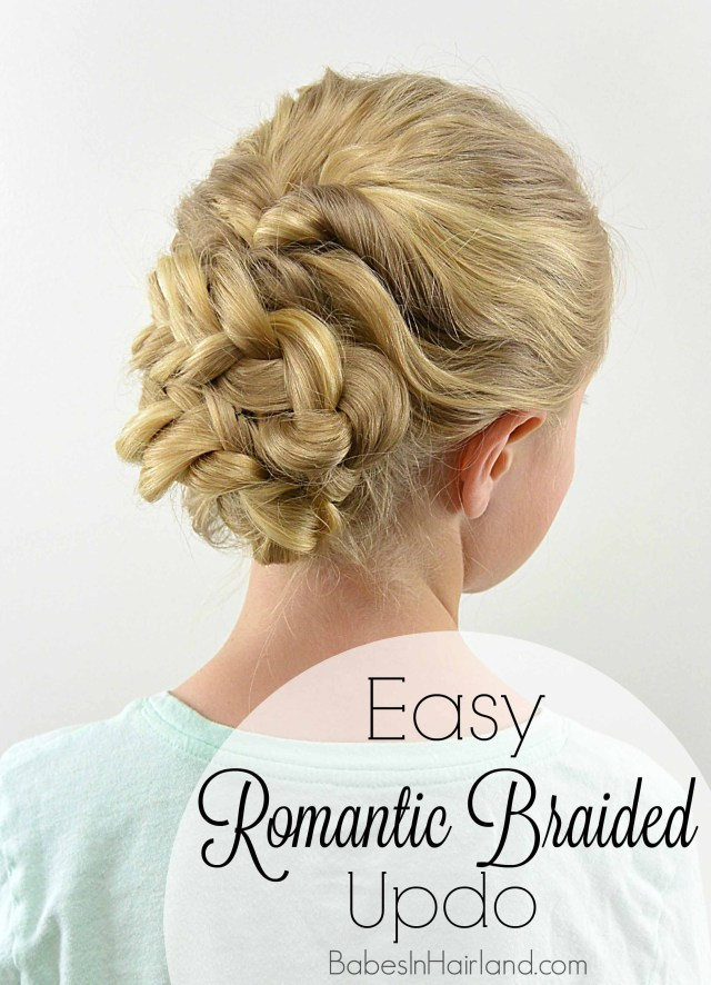 easy romantic braided updo - babes in hairland
