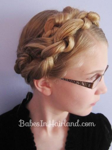 Chunky Knot Milkmaid Braids - BabesInHairland.com (15)