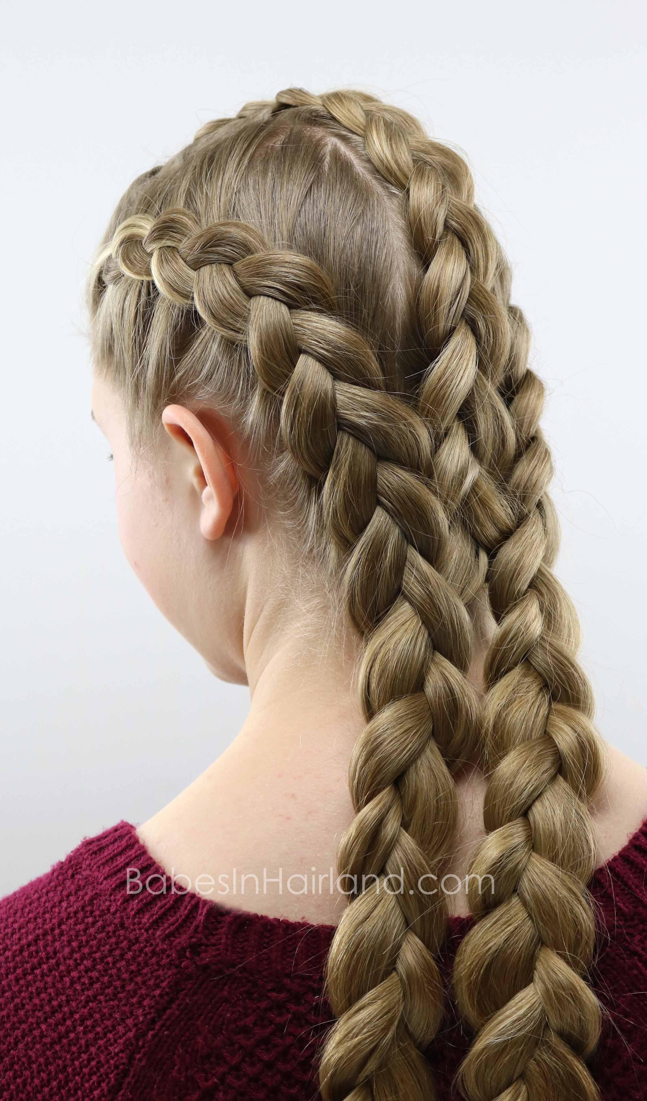 Triple Double Dutch Braids Hairstyle
