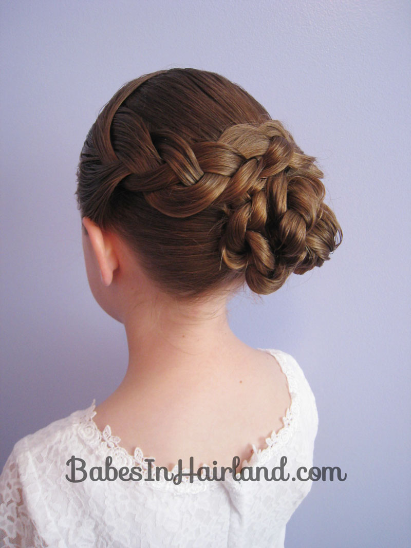 knotting hair styles braid amp knotted bun updo in hairland 8282