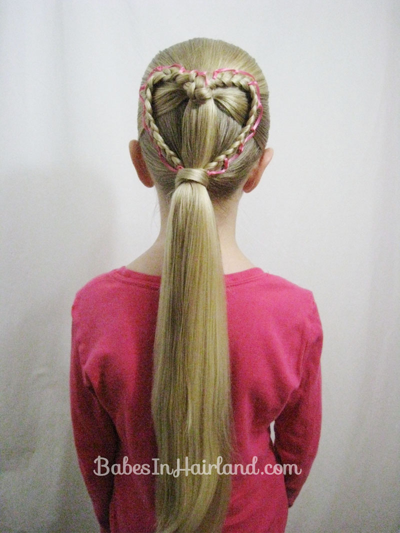 Ribbon Laced Heart Valentines Day Hairstyle Babes In