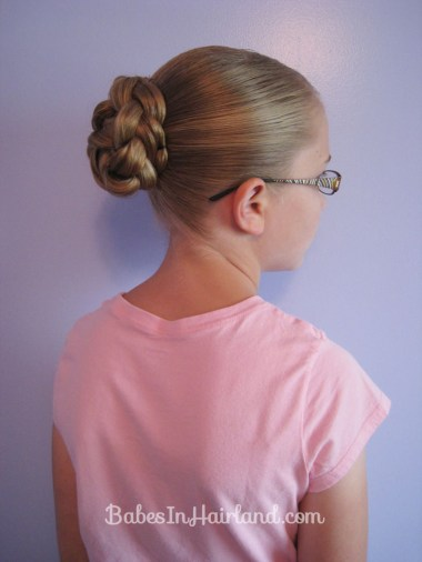 Double Braided Bun for Shorter Hair from BabesInHairland.com (3)