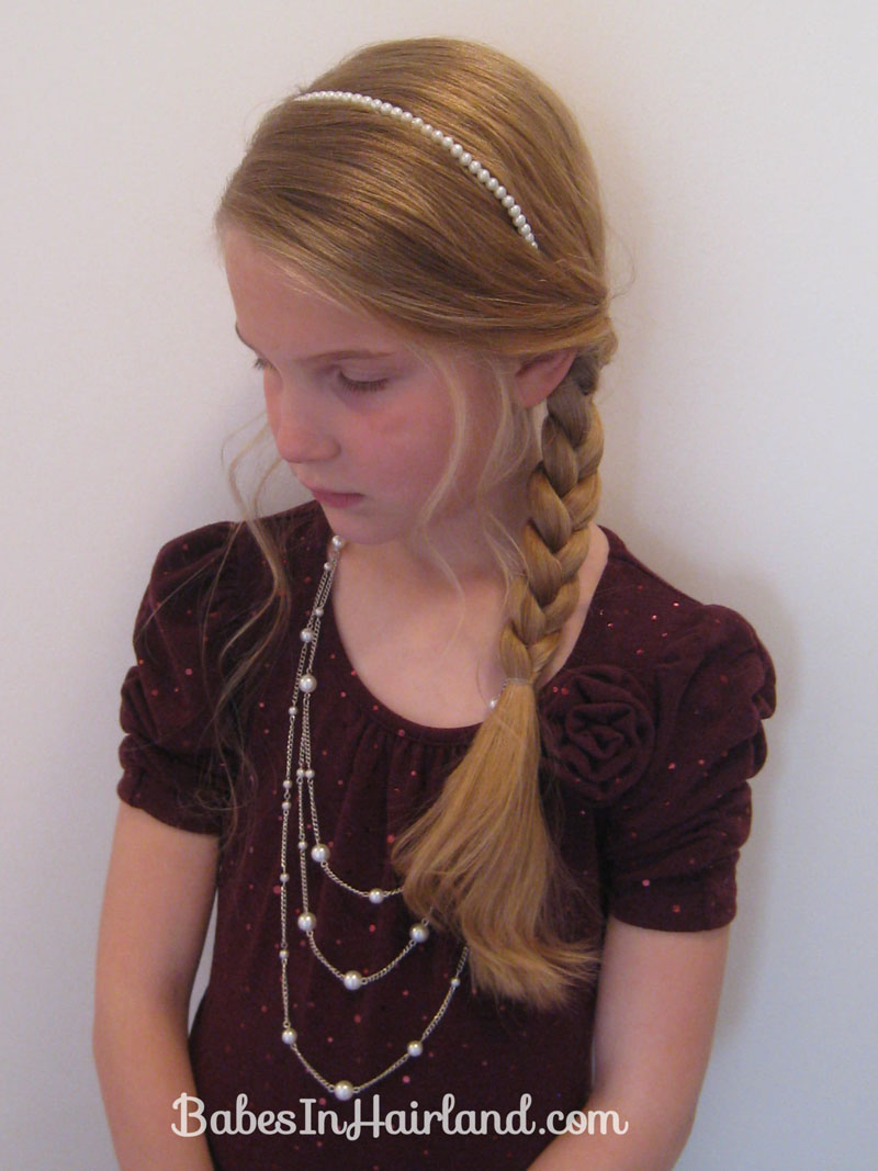 Slightly Messy Loose Side Braid 22