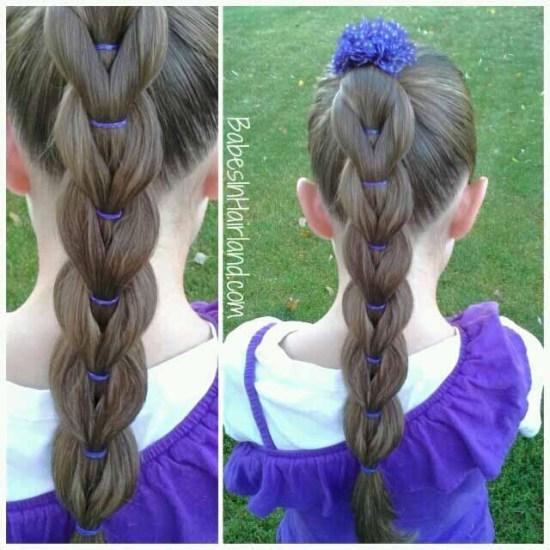 Pull-Through Braid from BabesInHairland.com #pullthroughbraid #braid #ponytail