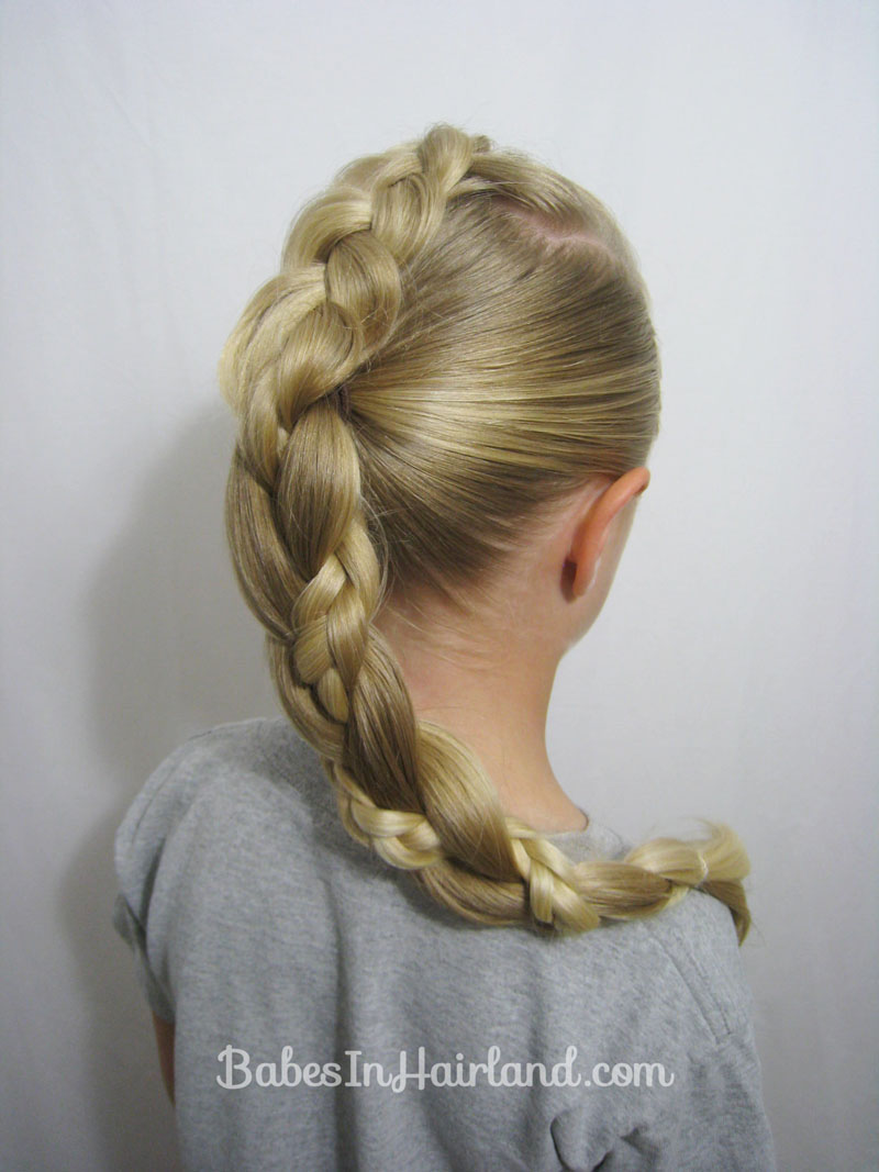 braided hair ponytail styles braid to a braided ponytail in hairland 3053