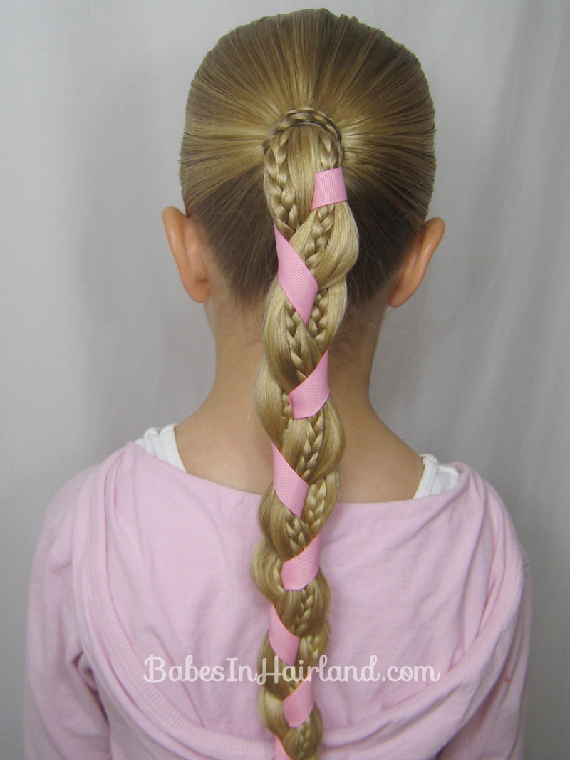 braids and ribbon hairstyle - babes