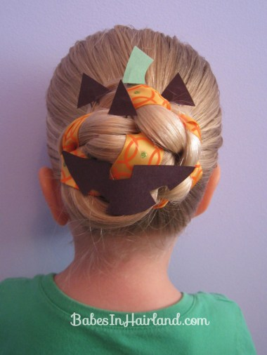 Halloween Hair - Jack O' Lantern Bun (1)