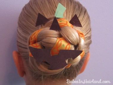 Halloween Hair - Jack O' Lantern Bun (7)