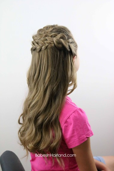 Half Up Braided Style from BabesInHairland.com #Frenchbraids #Dutchbraid #braids #hair #hairstyle