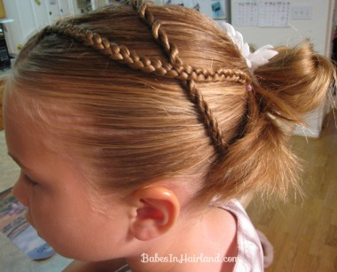 Messy Bun and Accent Braids (5)