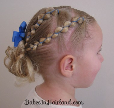 Rubber Band Wraps and Messy Bun (2)