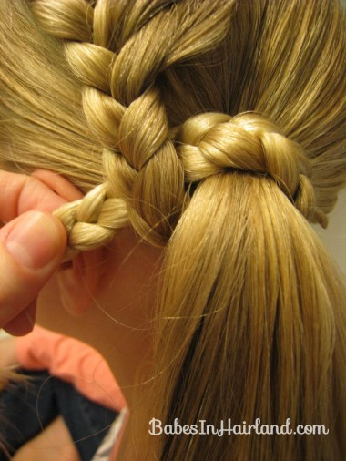 Lauren Conrad Inspired - Half French Braid Wrapped Ponytail (13)