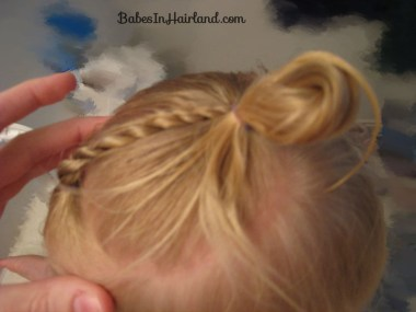 Baby Rope/Twist Braid into Baby Pony (5)