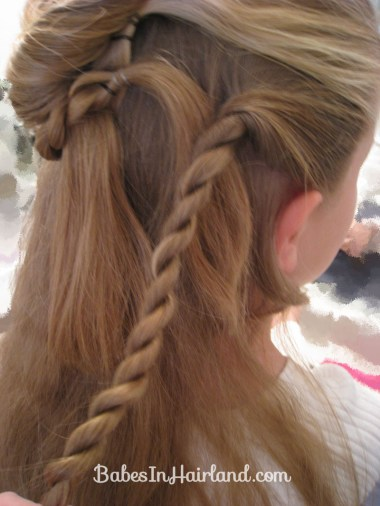 Twisted Flower Girl Hairstyle (7)