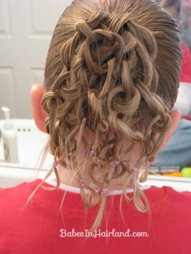 Knotted Pony Updo w/Hair Coils (5)