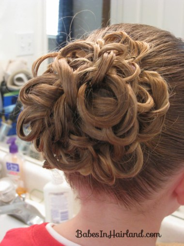 Knotted Pony Updo w/Hair Coils (7)