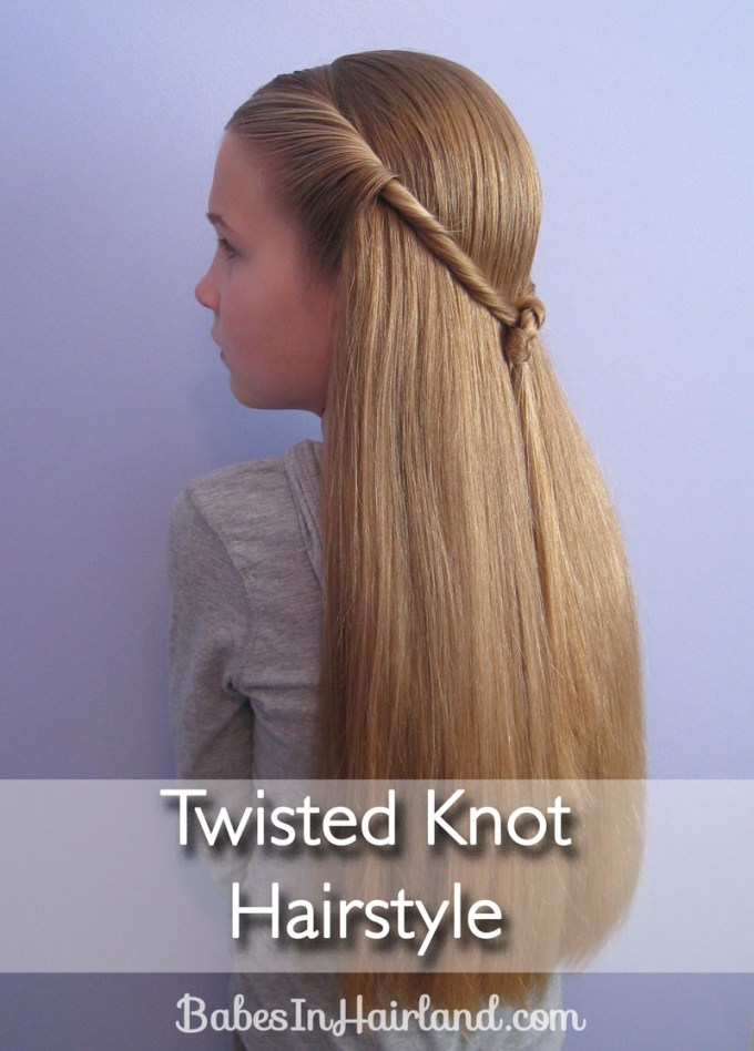 twisted knot hairstyle | teen hairstyles - babes in hairland