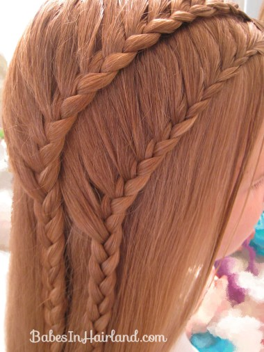 Double 1 Sided French Braids (3)