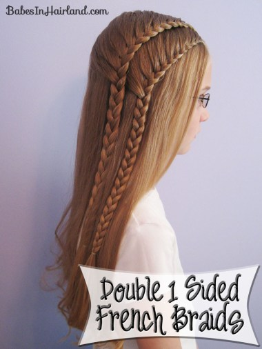 Double 1 Sided French Braids (1)