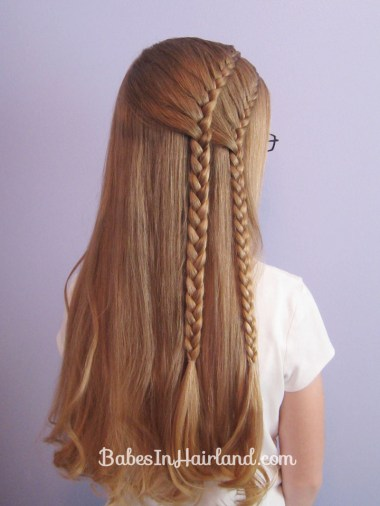 Double 1 Sided French Braids (4)
