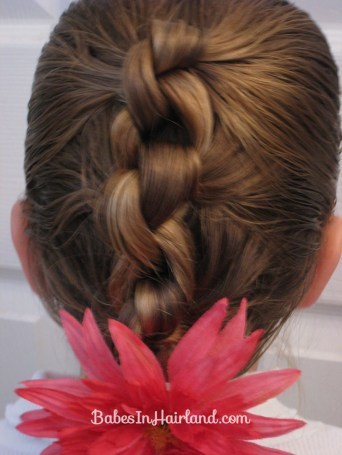 Row of Knots Hairstyle (1)