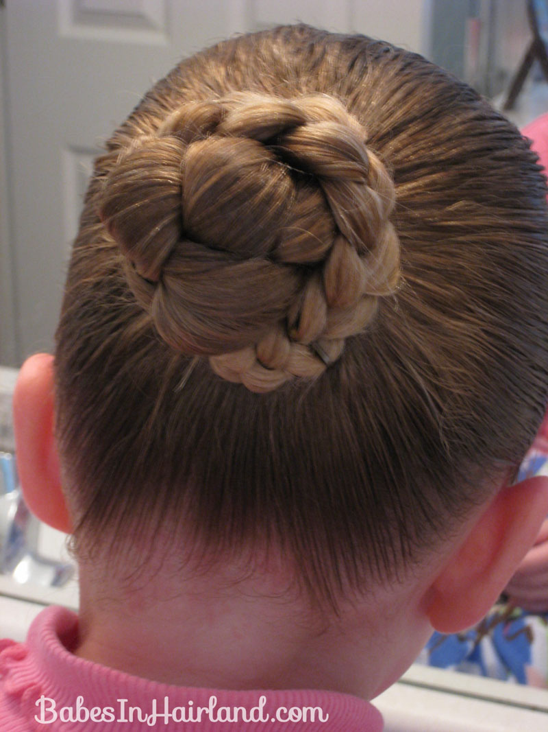 bun & a heart shaped craft hairstyle - babes in hairland