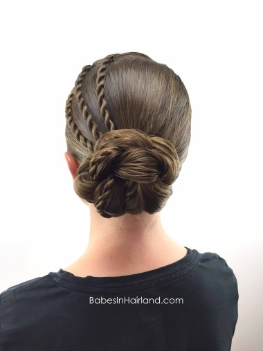 Triple Twists & Bun from BabesInHairland.com #hair #hairstyle #twists #bun