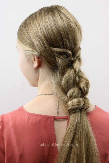 If you need a beautiful hairstyle that is easy and fast, this woven knot braid tutorial will have you out the door in 5 minutes. BabesInHairland.com