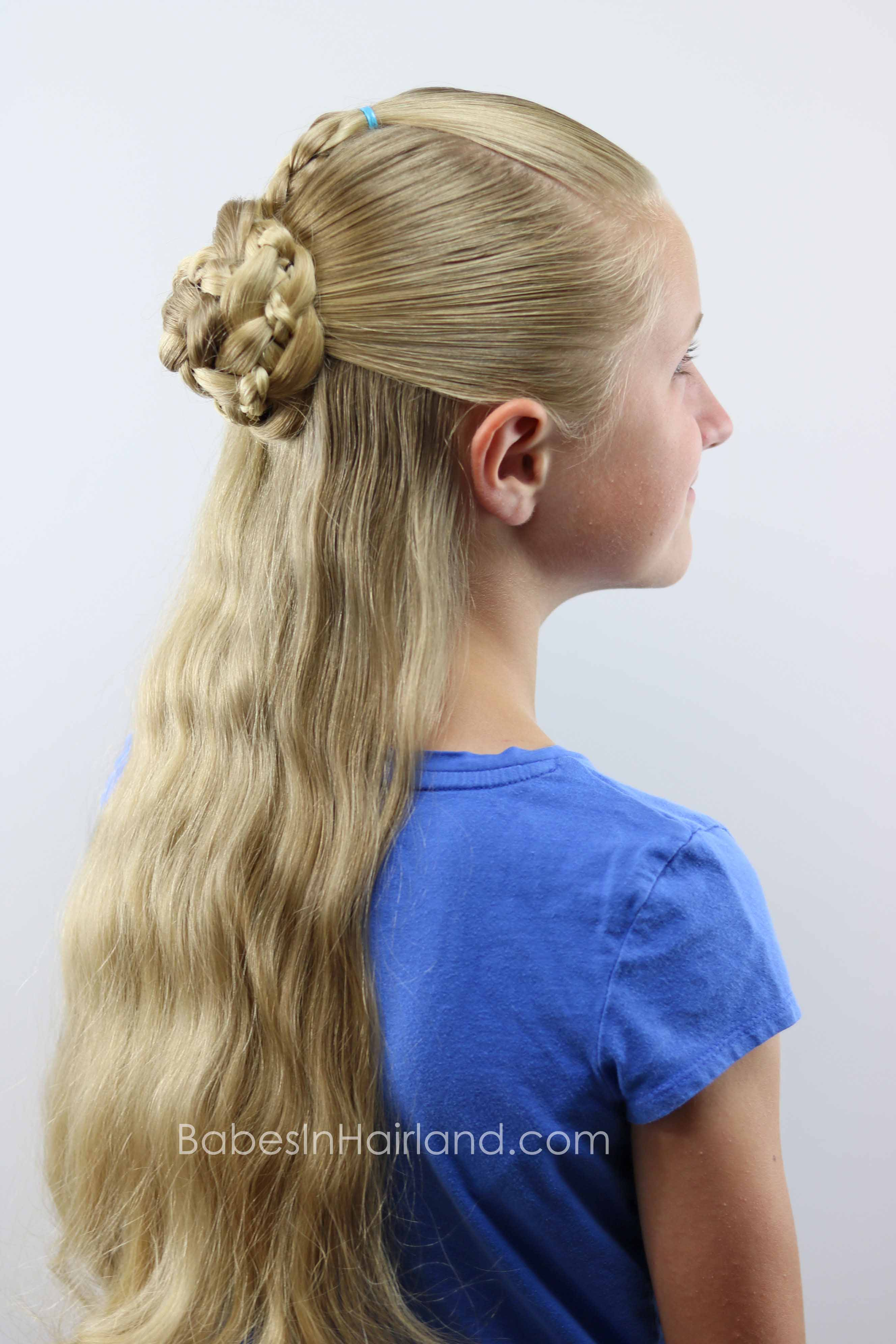 Half Up Braids And Bun Hairstyle Beautiful 4 Strand