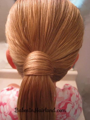 Hair Wrapped Bubble Ponytail (2)