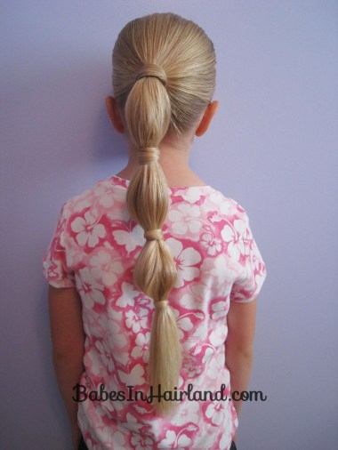 Hair Wrapped Bubble Ponytail (6)