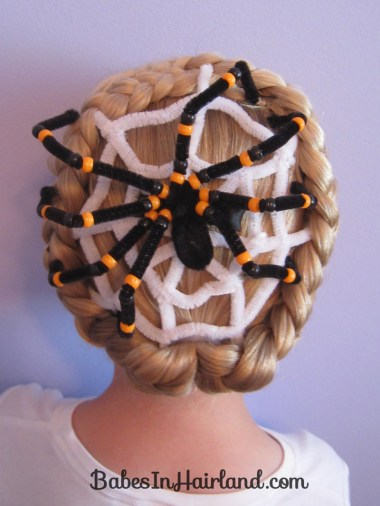 Spiderweb Hairstyle | Halloween Hairstyles (11)
