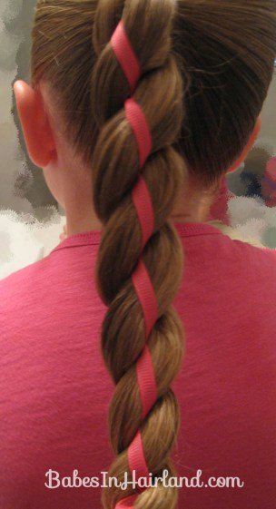 4 Strand Braid with Ribbon In It (7)