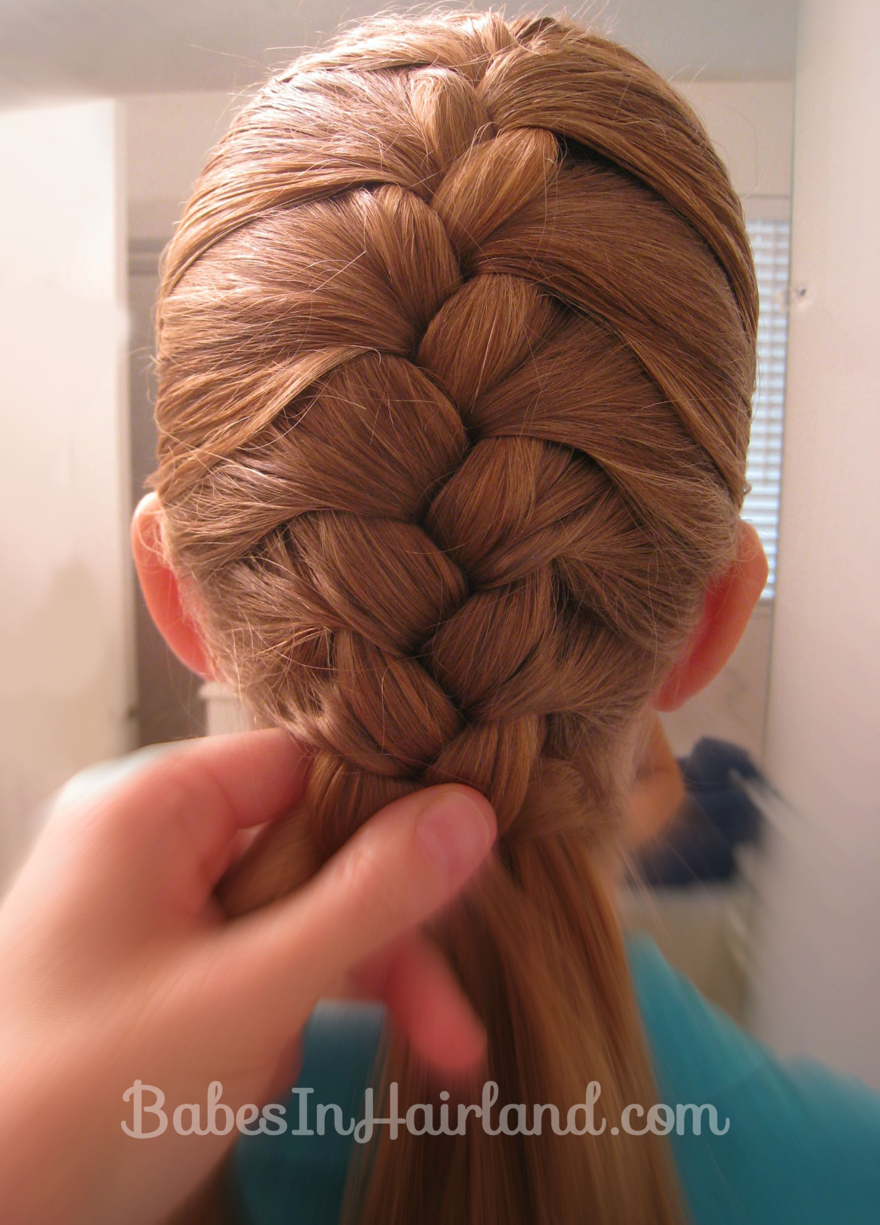 French Braid And Fishbone Bun From Babesinhairland (2)