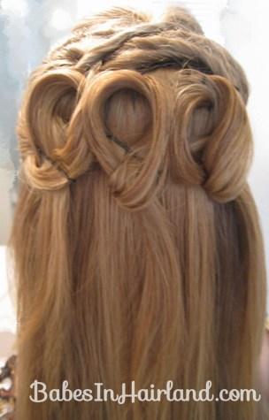 Elegant Half Updo - Twists & Loops -BabesInHairland.com