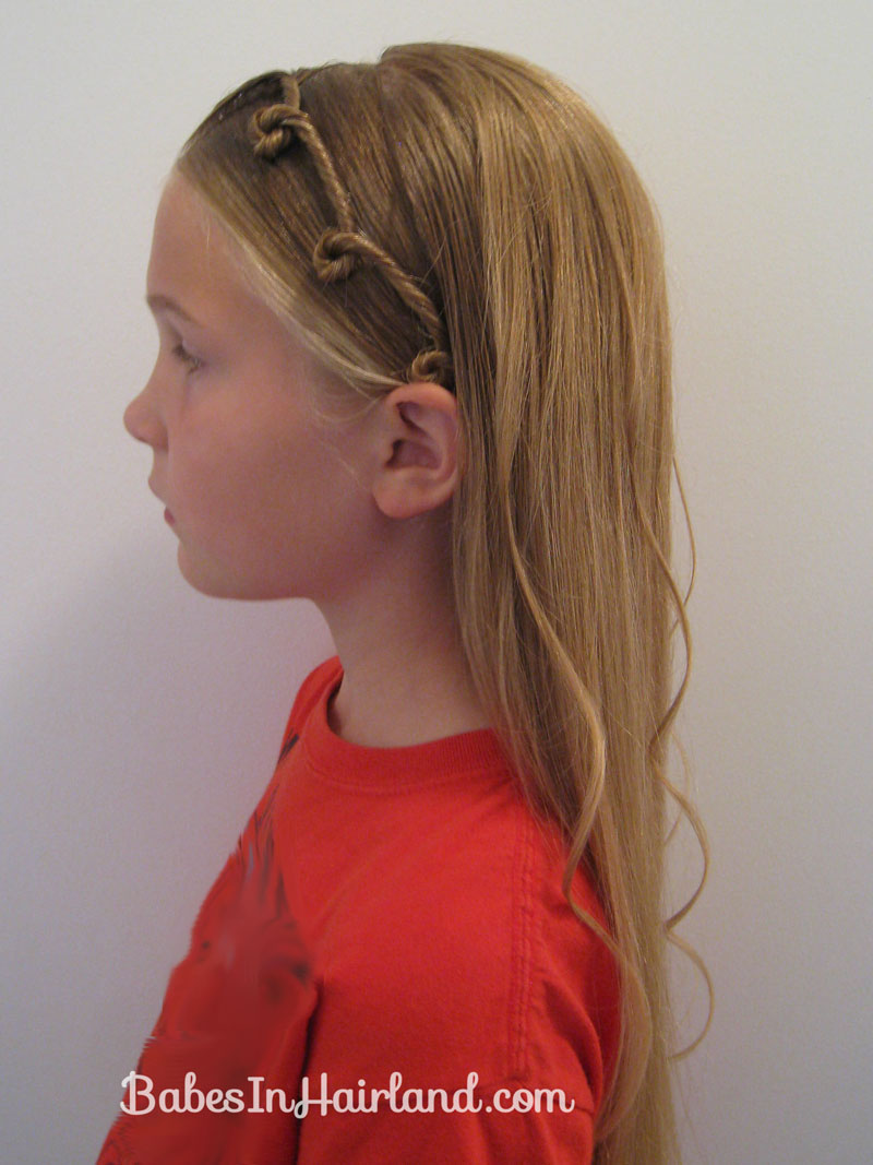 styling hair for quot bangs quot with overlaying twists in hairland 7390
