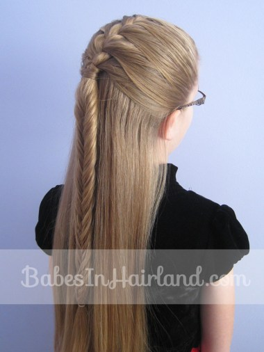 French Braid into a Fishbone Braid from BabesInHairland.com (6)