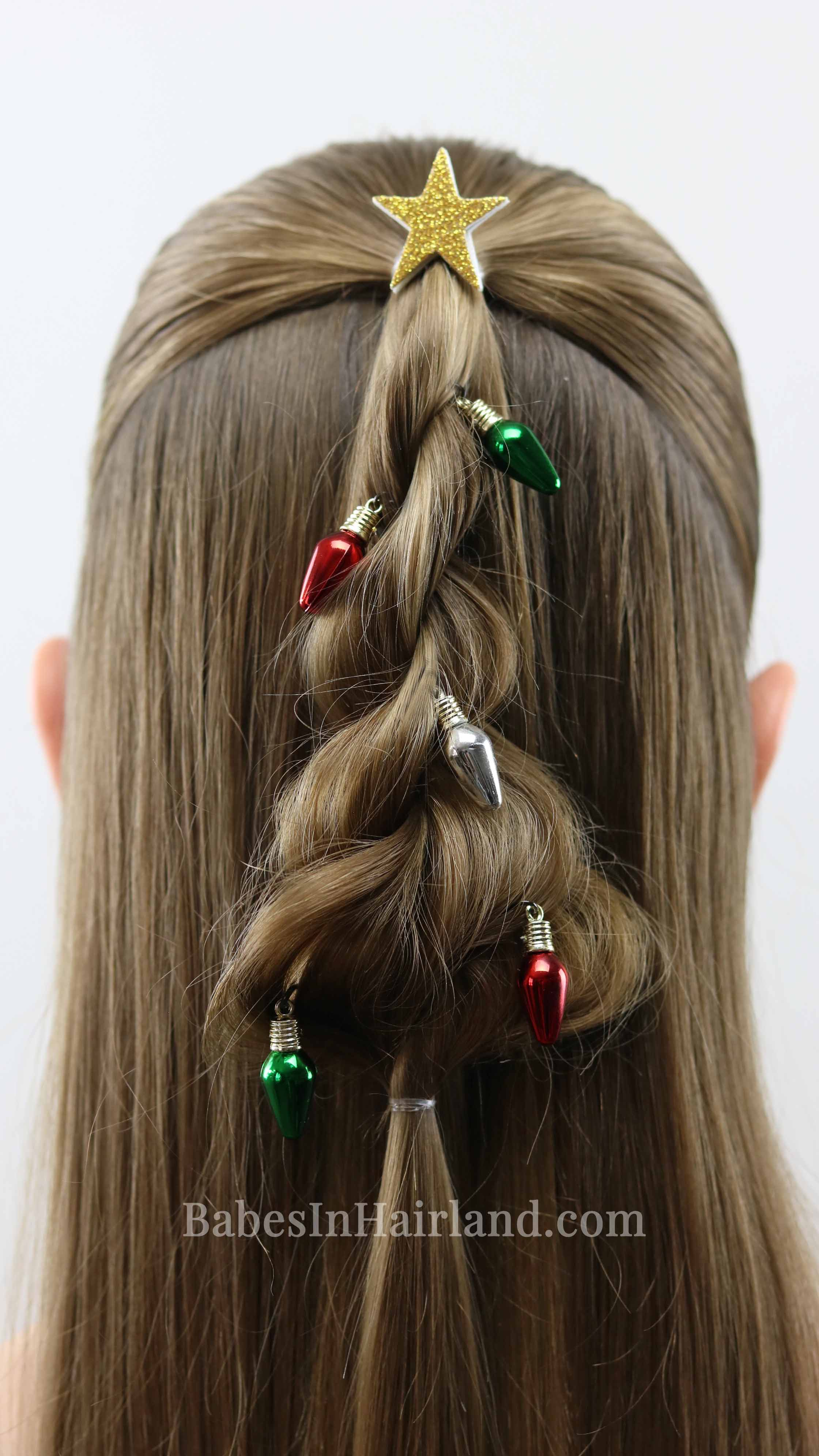 Twisted Christmas Tree Hairstyle A Cute Christmas Hairstyle
