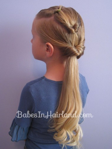 Triple Flipped Ponytail Hairstyle from BabesInHairland.com