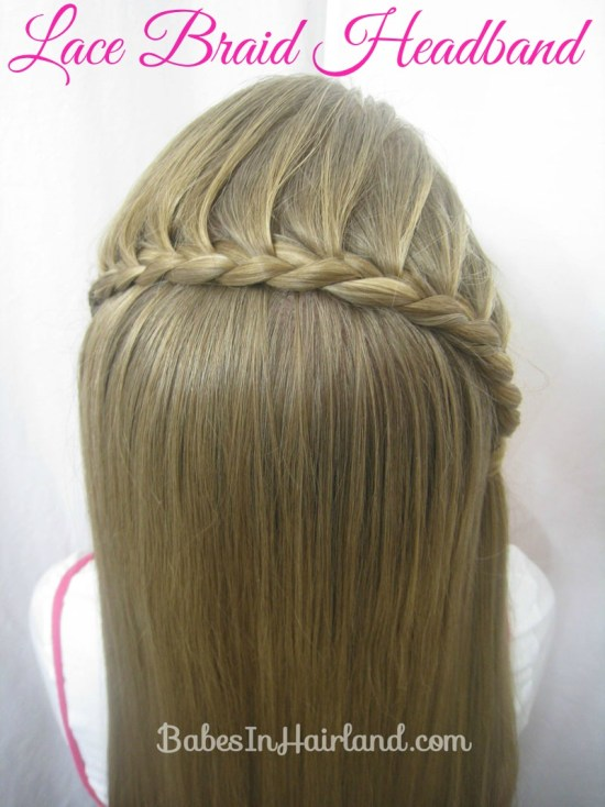 Lace Braid Headband from BabesInHairland.com #lacebraid #headband #hair