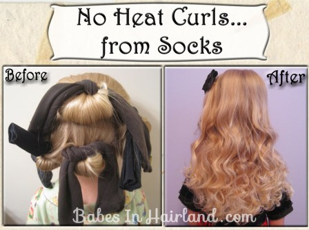 No Heat Curls - From Socks #2 (2)